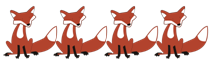 4 stocky foxes (for movies)